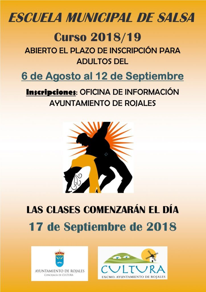 UNTIL SEPTEMBER 12TH, REGISTRATION IN THE MUNICIPAL SCHOOLS OF DANCE, THEATER AND SALSA.