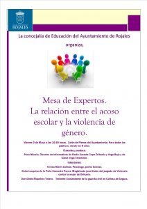 "Friday 3rd of May, ""The relationship between bullying and gender violence"""