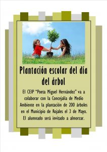"Friday 3rd of May, ""School Plantation of Tree Day"""
